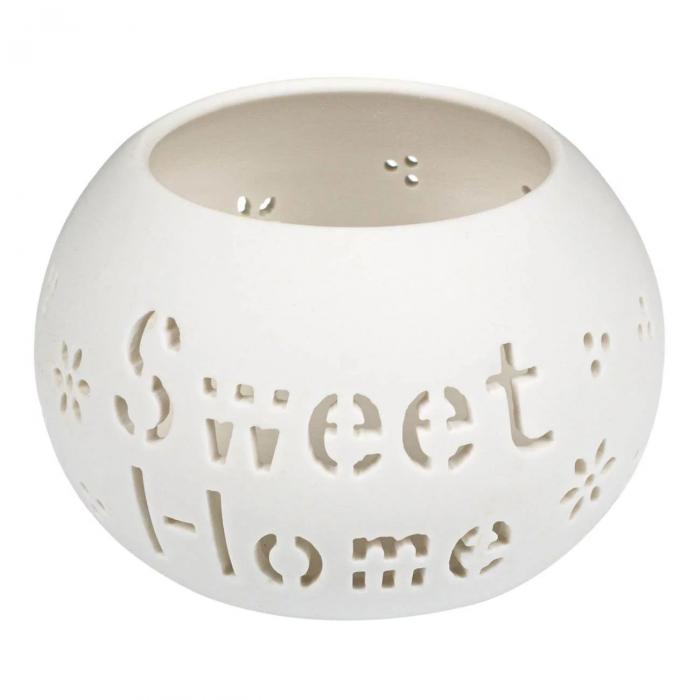 """Suport pentru lumânare din ceramică """"Sweet Home"""" [0]"""