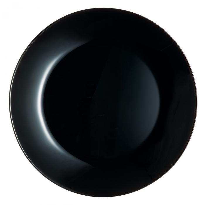 Farfurie neagră pentru servire.18 cm. 1