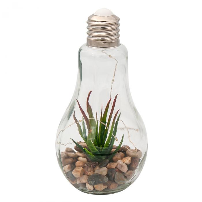 Bec decorativ cu Led și plante.11x22 cm 0