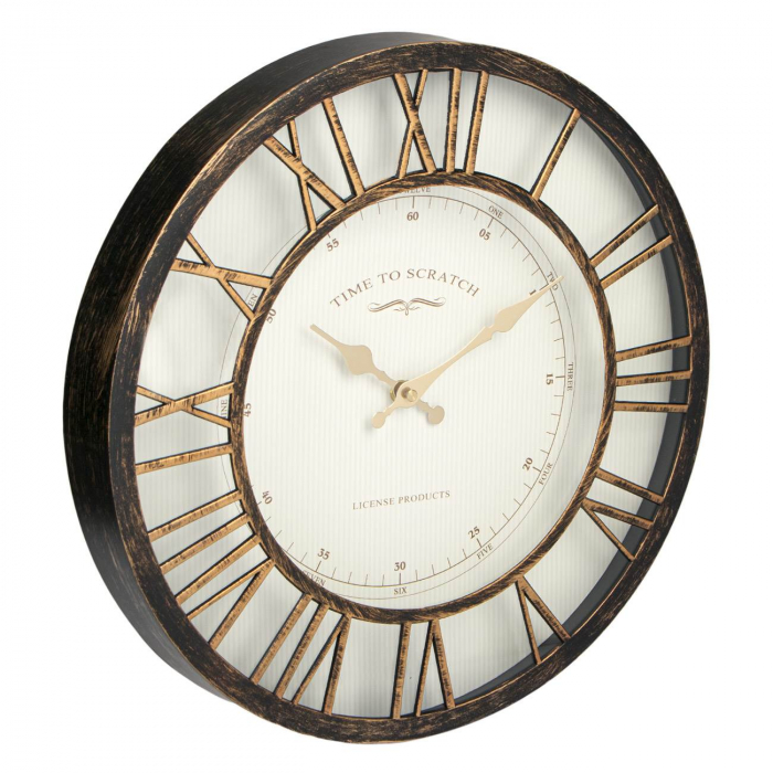 Ceas de perete , bronz numere romane 3d/ 40,6cm [1]