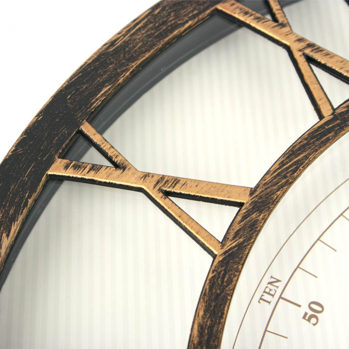Ceas de perete , bronz numere romane 3d/ 40,6cm 3