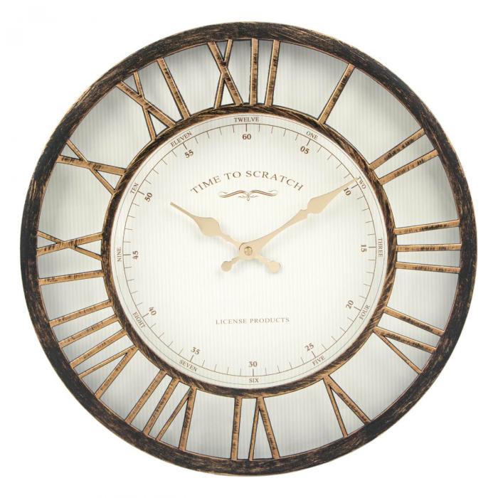 Ceas de perete , bronz numere romane 3d/ 40,6cm 0