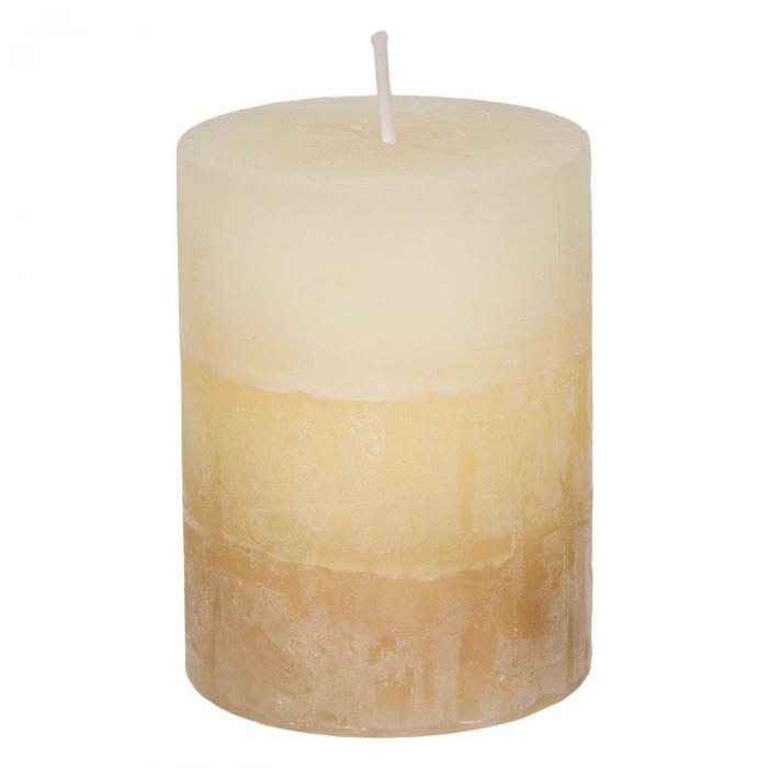 Lumânare parfumată bej decorativă cu miros de vanilie 1