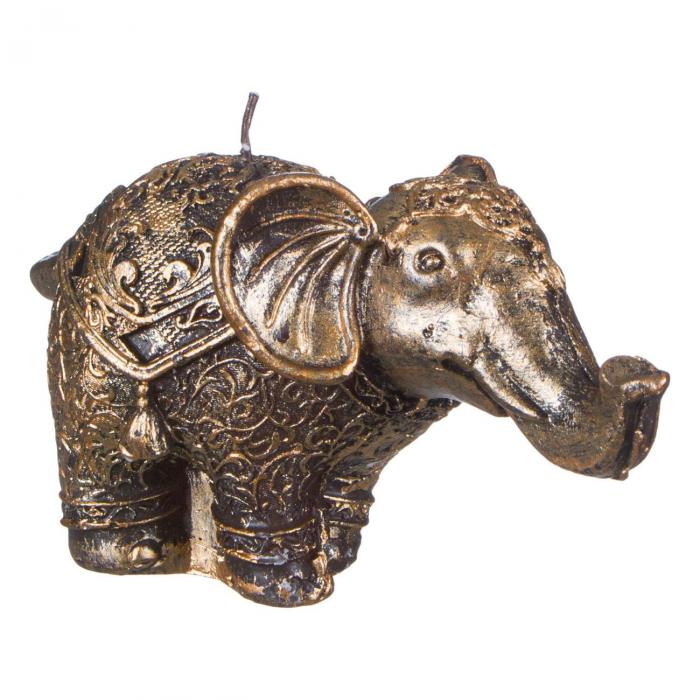 Lumânare tip elefant aurie.7,5x15 cm. [0]