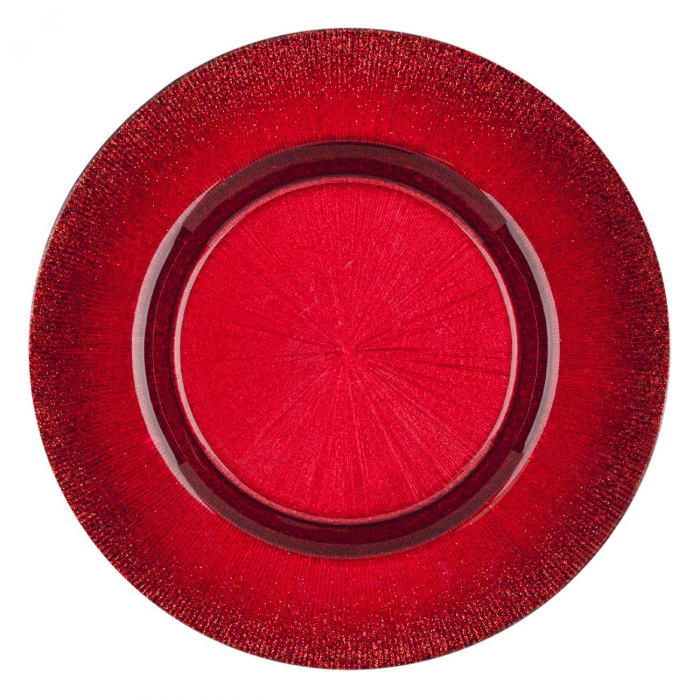 Farfurie pentru fructe roșie.21 cm 1