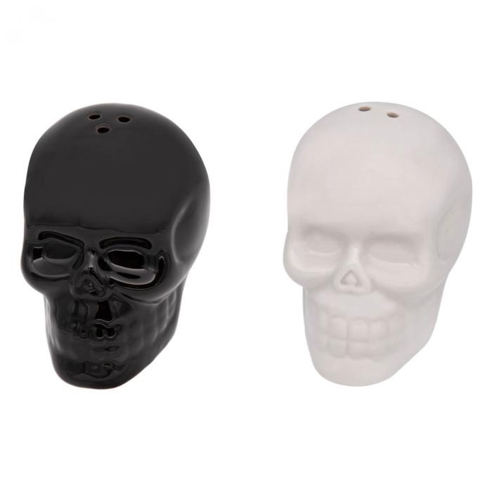 Set solniță sare/piper craniu ceramică 0