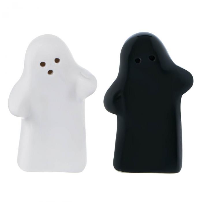 Set solniță sare/piper fantome ceramică. [1]