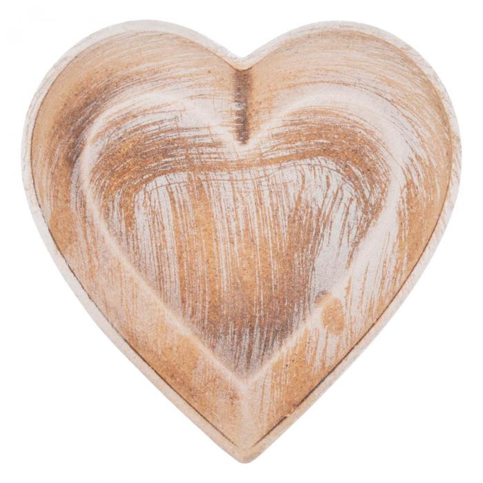 Platou decorativ în formă de inimă. 0