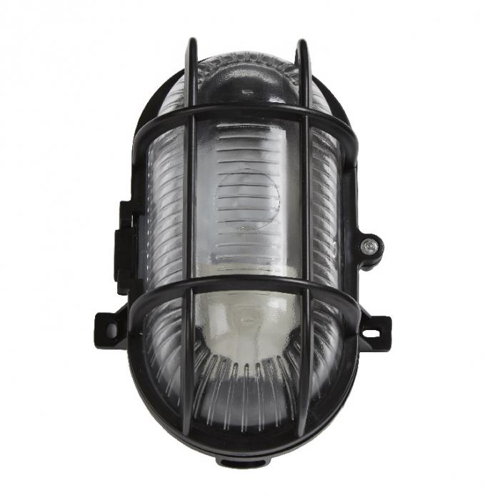 Lampa ovala, tip soclu E27, 11 x 13 cm, material plastic, culoare negru 1