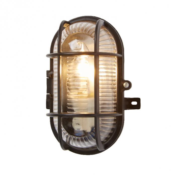 Lampa ovala, tip soclu E27, 11 x 13 cm, material plastic, culoare negru 0