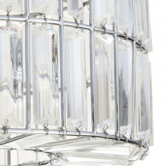 Plafoniera cu margele,metal si sticla 1