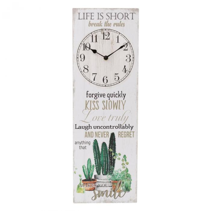 "Ceas de  perete decorativ""Life is short"" [0]"