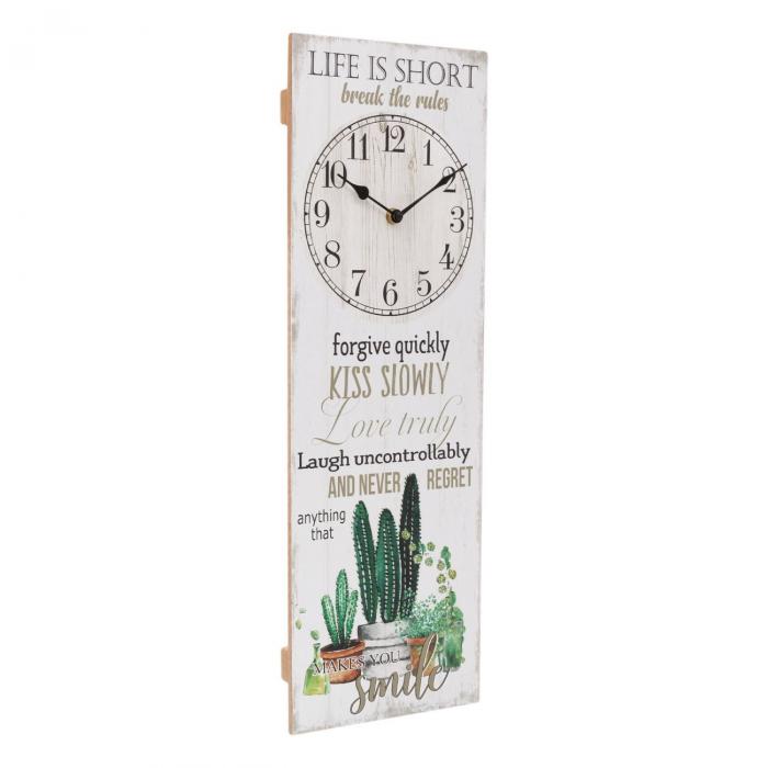 "Ceas de  perete decorativ""Life is short"" [1]"