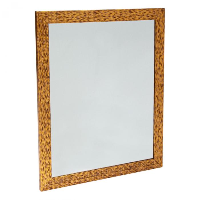 Oglindă de perete maro-aurie 0