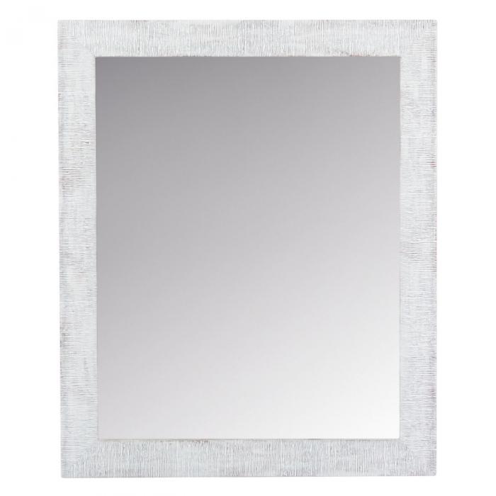 Oglindă de perete cu margine de culoare albă 0