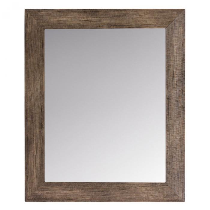 Oglindă de perete cu cadru maro închis 0