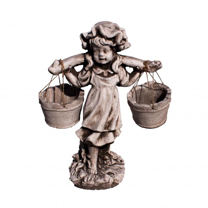 Statuie fetiță cu găleți.61 cm 0