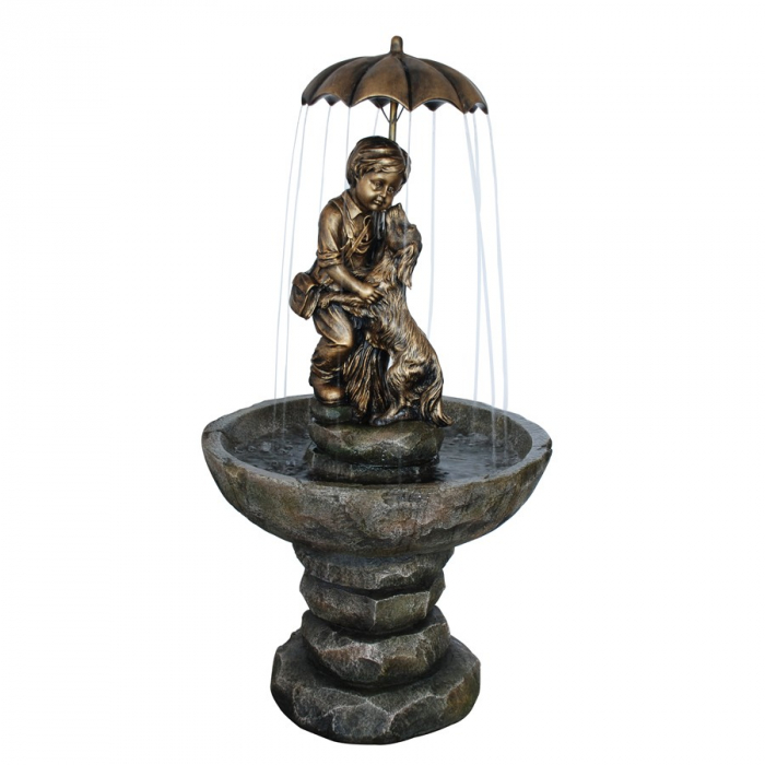 Fântână arteziană  cu pompă recirculare apă.63 x 63 x 123.5 cm 0