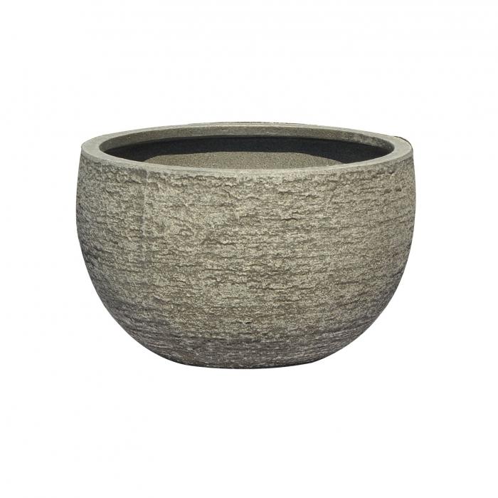 Ghiveci din fibră de  piatră.30 x 18 cm [0]