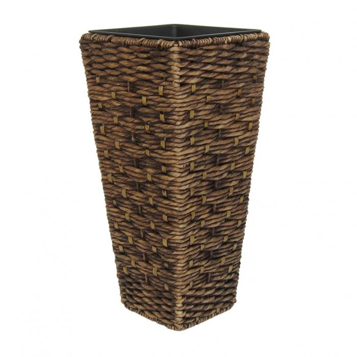 Ghiveci din material lemnos pentru flori.28 x 28 x 60 cm 0