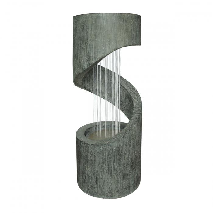 Fântână arteziană gri cu pompă recirculare apă.31.5 x 79.5 cm 0