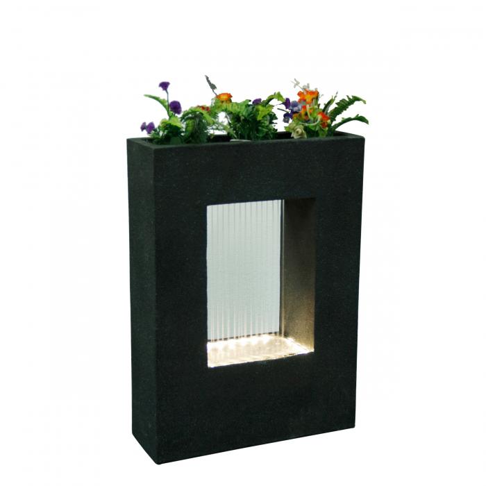 Fântână arteziană cu pompă recirculare apă de culoare neagră, 55 x 19.5 x 76.5 cm. 0