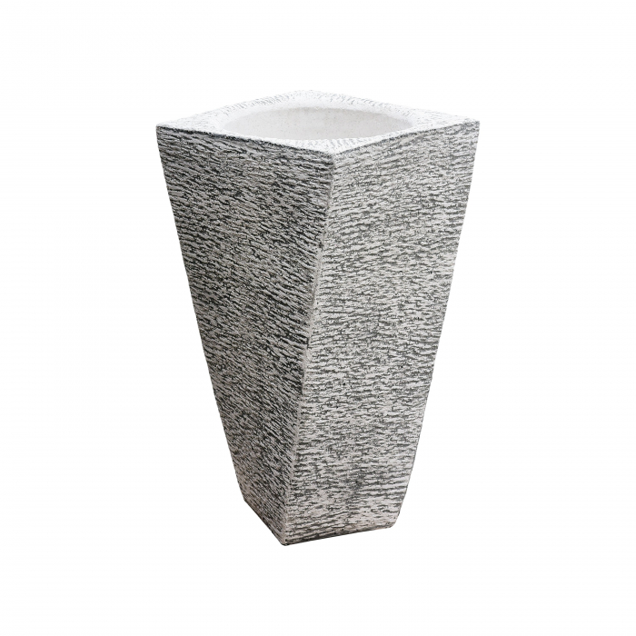 Ghiveci din beton  alb pentru exterior.40 x 74 cm 0