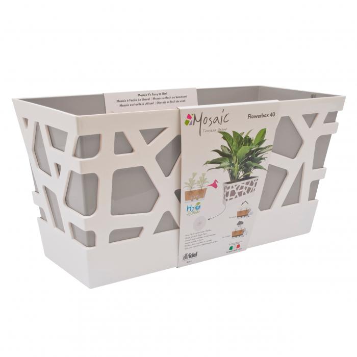 Jardinieră de plastic Mozaic, interior / exterior.40 x 17 x 20 cm 0