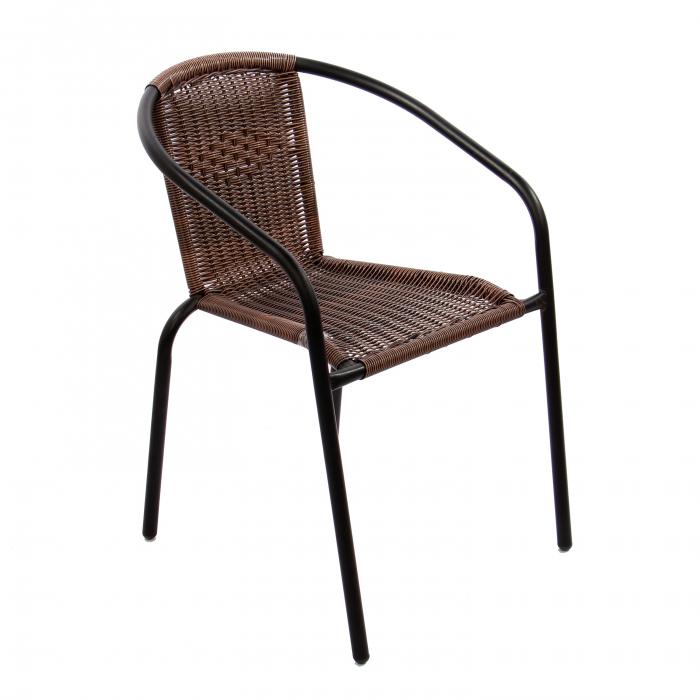 Set masă rotundă, cu 2 scaune pentru grădină 1