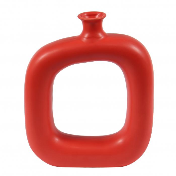 Vază decorativă de culoare roșie.27 cm [0]