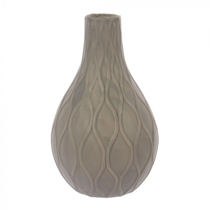 Vază decorativă de culoare gri-mat.21 cm [0]