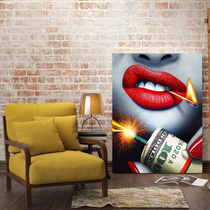Tablou Canvas - Dollars Bomb 1