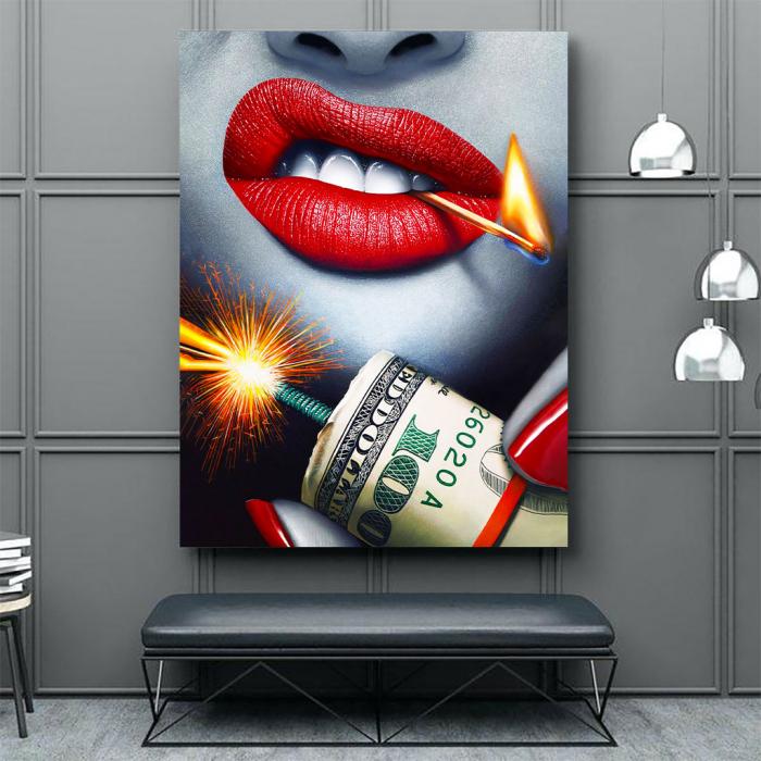 Tablou Canvas - Dollars Bomb 2