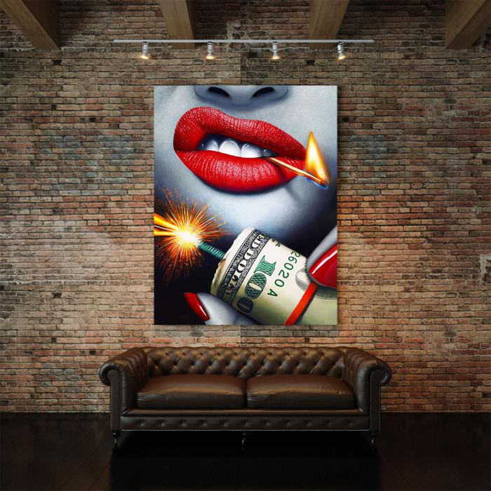 Tablou Canvas - Dollars Bomb 4