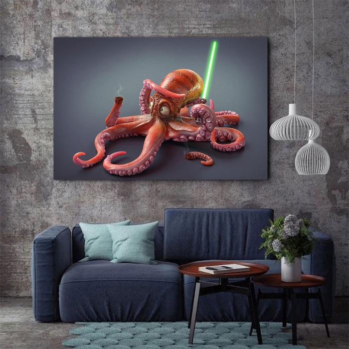 Tablou Canvas - Funny Octopus 1