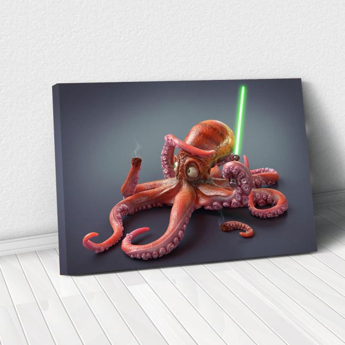 Tablou Canvas - Funny Octopus 0