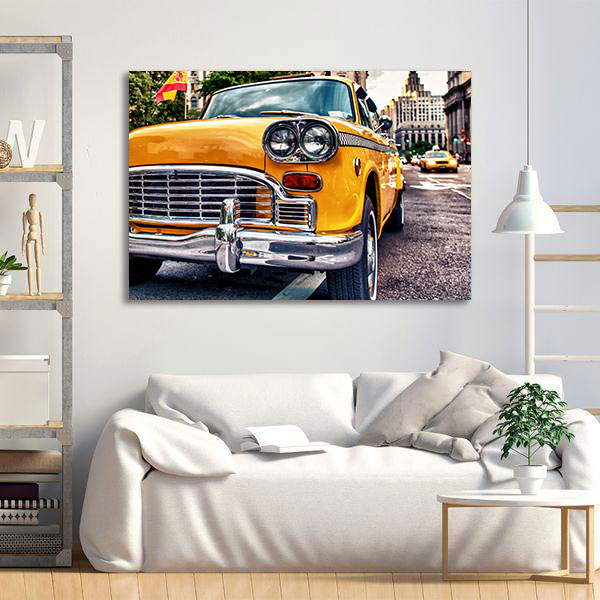 Tablou Canvas - Old taxi in New York 1