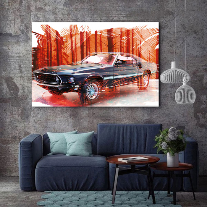 Tablou Canvas - Mustang 2