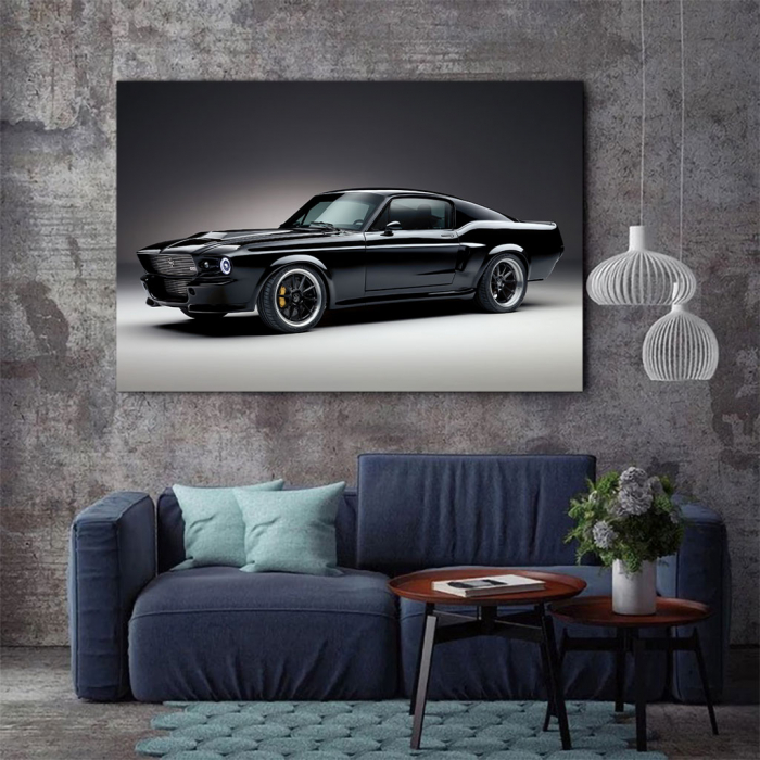 Tablou Canvas - Mustang black 2