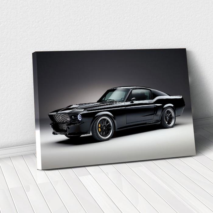 Tablou Canvas - Mustang black 0