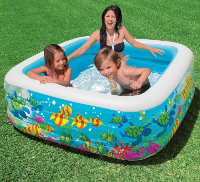 Piscină gonflabilă Aqua,pentru copii 159 x 159 x 50cm 1