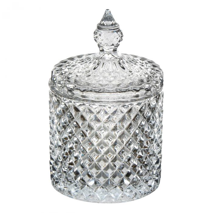 Bombonieră din sticlă cu capac 290ml [0]