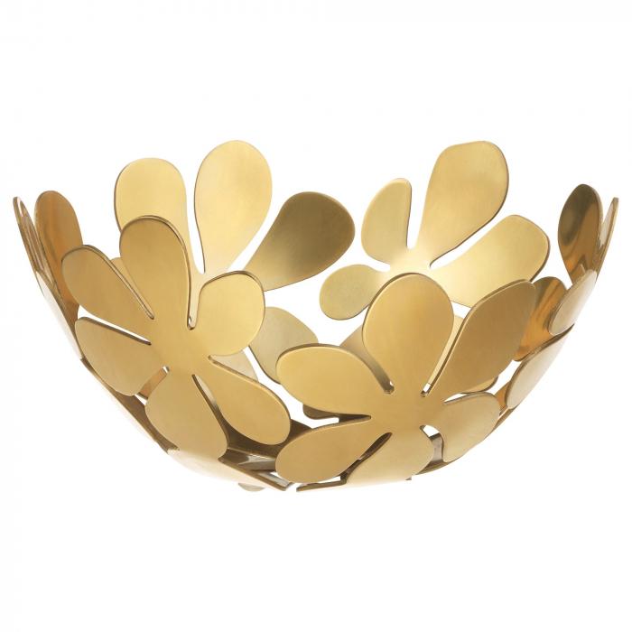 Bol alamă, auriu - 20cm 0