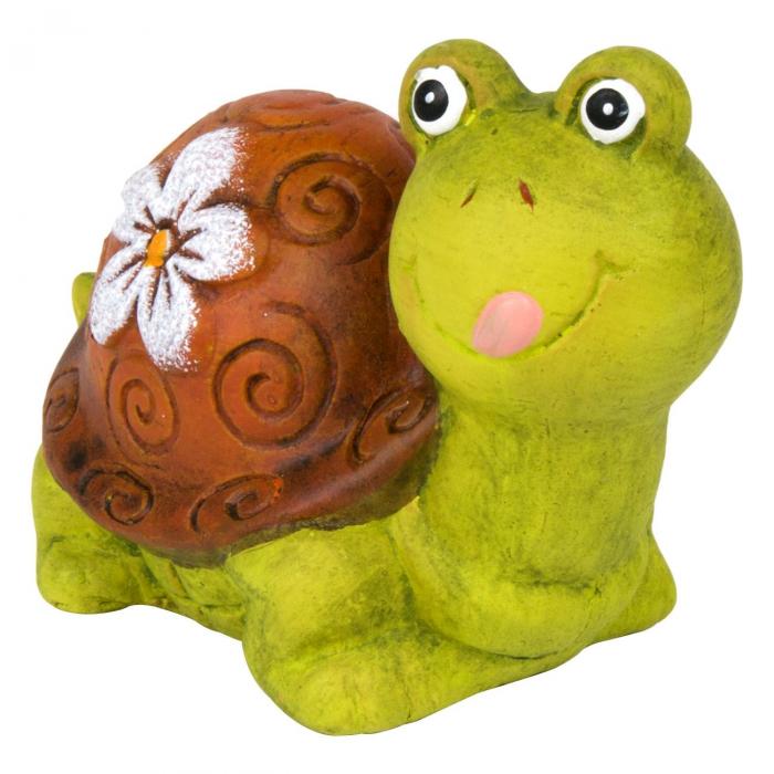 Țestoasă decorativă din ceramică-11x6x7,5 cm 1