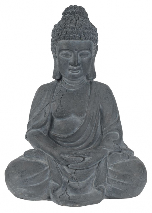 Statuie grădină buddha, 24x31x42 gri 0