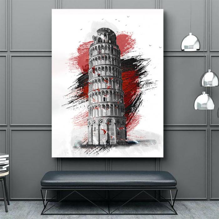 Tablou Canvas - Turnul din pisa 2