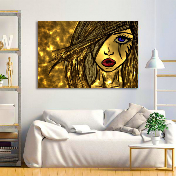 Tablou Canvas - Golden art 1