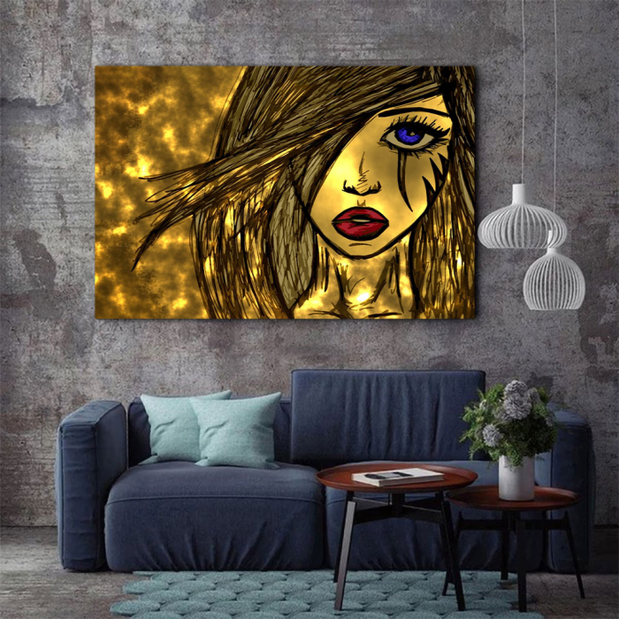 Tablou Canvas - Golden art 2