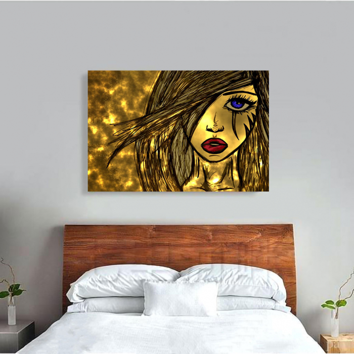 Tablou Canvas - Golden art 3