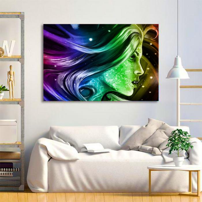 Tablou Canvas - Rainbow girl 1